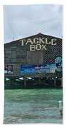The Tackle Box Sign Beach Towel