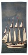 The Tall Ship Windy Beach Towel