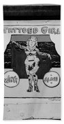 The Tattoed Girl In Black And White Beach Towel
