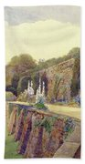 The Terrace At Berkeley Castle Beach Towel