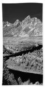 309217-the Teton Range From Snake River Overlook Beach Towel