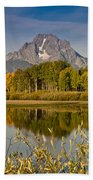 The Tetons And Fall Colors Beach Towel