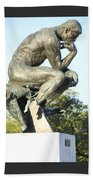 The Thinker Cleveland Art Statue Beach Towel