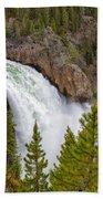 The Thundering Lower Yellowstone Falls Beach Towel