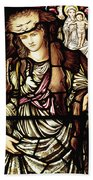 The Tibertine Sibyl In Stained Glass Beach Towel
