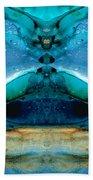 The Time Traveler - Surreal Fantasy Art By Sharon Cummings Beach Towel