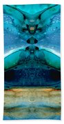 The Time Traveler - Surreal Fantasy Art By Sharon Cummings Beach Sheet