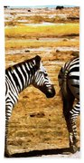 The Tired Zebras Beach Towel