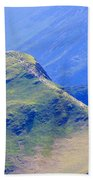 The Top Of Catbells In The Lake District Beach Towel