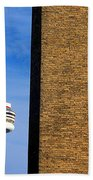 The Tower And The Stack Beach Towel
