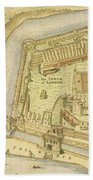 The Tower Of London, From A Survey Made Beach Towel