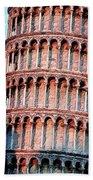 The Tower Of Pisa Beach Towel