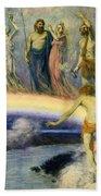 The Trek Of The Gods To Valhalla Beach Towel