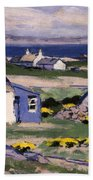 The Two Crofts Beach Towel by Francis Campbell Boileau Cadell