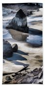 The Unexplored Beach Painted Beach Towel