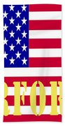 The United States Airforce Beach Towel