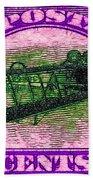 The Upside Down Biplane Stamp - 20130119 - V2 Beach Towel