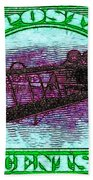 The Upside Down Biplane Stamp - 20130119 - V4 Beach Towel