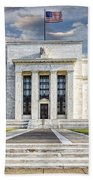 The Us Federal Reserve Board Building Beach Towel by Susan Candelario