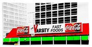 The Varsity Atlanta Pop Art Beach Sheet