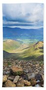 Keswick And Derwent Water From Crag Hill Beach Towel