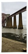 The View Of The Forth Bridge Beach Towel