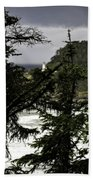The View Of The Heceta Lighthouse Beach Towel