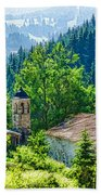The Village Church - Impressions Of Mountains And Forests Beach Towel