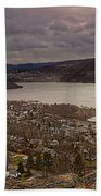 The Village Of Cold Spring And The Hudson River Beach Towel