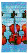 The Violin Store Beach Towel