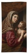 The Virgin And Child Beach Towel by Jan van Bijlert or Bylert