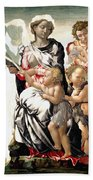 The Virgin And Child With Saint John And Angels Beach Towel