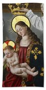 The Virgin And The Child With The Parrot Beach Towel