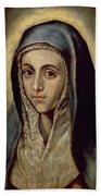 The Virgin Mary Beach Towel