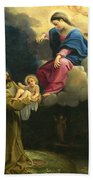 The Vision Of Saint Francis  Beach Towel by Carracci Ludovico
