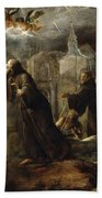 The Vision Of St Francis Of Paola Beach Towel