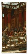 The Visit Of The Queen Of Sheba To King Solomon Beach Towel