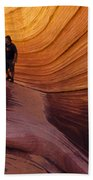 The Wave Beauty Of Sandstone 1 Beach Towel