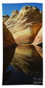 The Wave Reflected Beauty 2 Beach Towel