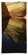 The Wave Reflected Beauty 3 Beach Towel