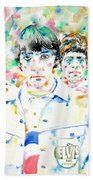 The Who - Watercolor Portrait Beach Towel