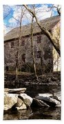 The Wissahickon Creek And Mather Mill Beach Towel