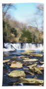 The Wissahickon Creek In February Beach Towel