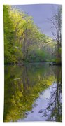 The Wissahickon Creek In The Morning Beach Towel