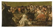 The Witches Sabbath Or The Great He-goat, One Of The Black Paintings, C.1821-23 Oil On Canvas Beach Towel