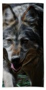 The Wolf Digital Art Beach Towel