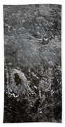 Ice Over The River Beach Towel