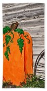 The Wooden Pumpkin Beach Towel