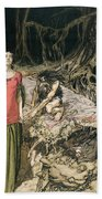 The Wooing Of Grimhilde The Mother Of Hagen From 'siegfried And The Twilight Of The Gods Beach Towel by Arthur Rackham