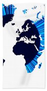 The World Map And Globe Beach Towel